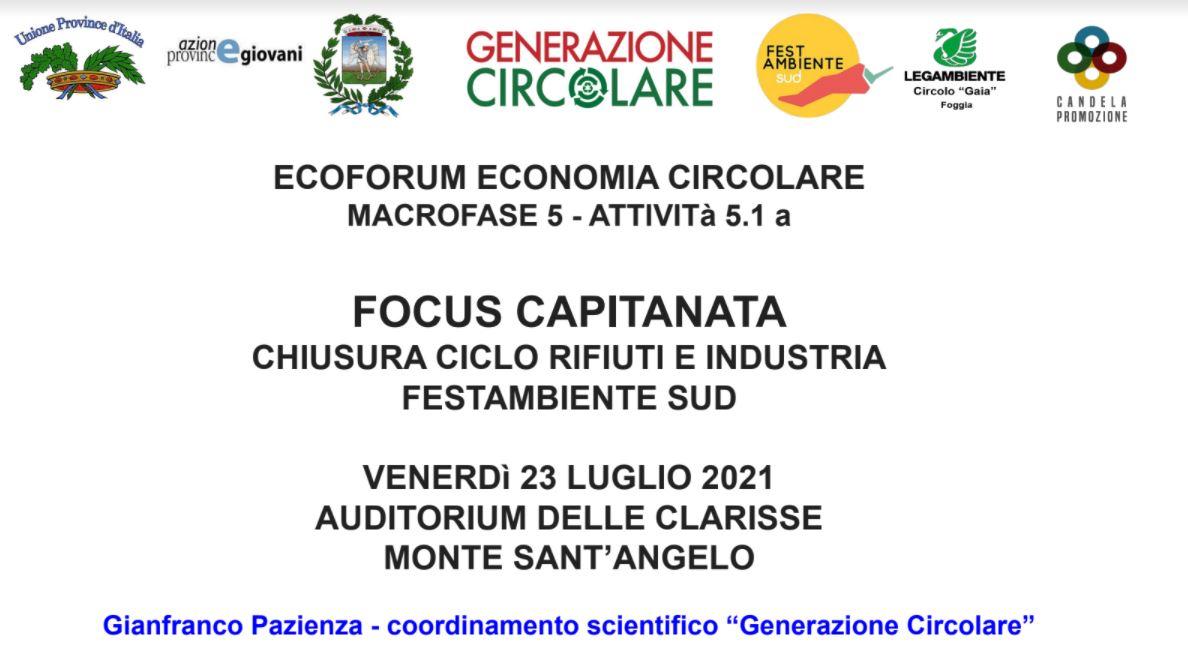 Relazione Ecoforum 23 luglio